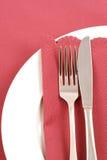 Ajuste de lugar com guardanapo cor-de-rosa #3 Imagens de Stock Royalty Free