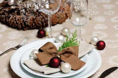 Ajuste de lugar do Natal Fotos de Stock