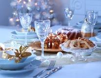 Ajuste de lugar luxuoso para o Natal Imagens de Stock