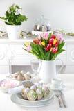 Ajuste de lugar para Easter Fotografia de Stock