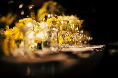 Ajuste de lujo de la tabla para el partido, la Navidad, los días de fiesta y las bodas foto de archivo libre de regalías