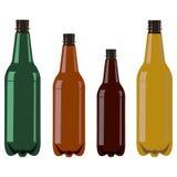 Ajuste de quatro garrafas plásticas sem nenhuma tampa ilustração royalty free