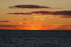 Puesta del sol en Cape Cod Fotos de archivo libres de regalías