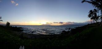 Ajuste de Sun en Maui Fotografía de archivo libre de regalías