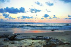 Ajuste de Sun no Tamarindo Fotografia de Stock Royalty Free