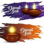 Ajuste a decoração das velas das luzes ao festival do diwali ilustração royalty free