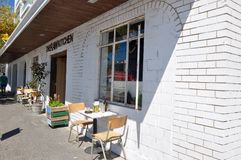 Ajuste del café en Fremantle, Australia occidental Foto de archivo libre de regalías