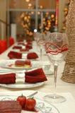Ajuste dinning fino da tabela Fotos de Stock Royalty Free