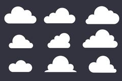 Ajuste do ícone da nuvem Vetor ilustração do vetor