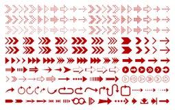 Ajuste do ícone vermelho das setas ilustração royalty free