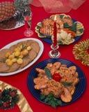 Ajuste do alimento do Natal foto de stock royalty free
