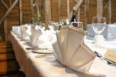 Ajuste do banquete Fotografia de Stock
