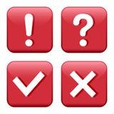 Ajuste do botão vermelho com sinais Vetor ilustração do vetor