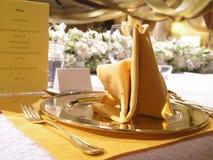 Ajuste do casamento da tabela Fotografia de Stock