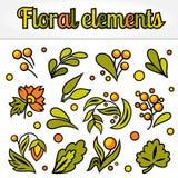 Ajuste do elemento floral simples ilustração royalty free