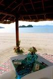 Ajuste do jantar da ilha de Langkawi Fotos de Stock