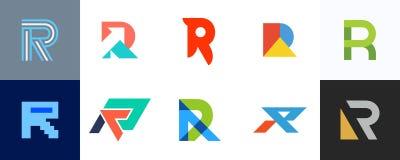 Ajuste do logotipo da letra R ilustração royalty free