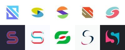 Ajuste do logotipo da letra S ilustração do vetor