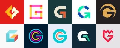 Ajuste do logotipo de G da letra ilustração royalty free
