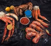 Ajuste do marisco fresco imagens de stock royalty free