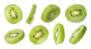 Ajuste do quivi suculento fresco cortado no branco fotos de stock