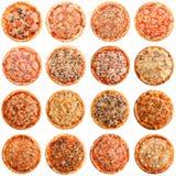Ajuste do tipo 16 diferente da pizza imagens de stock royalty free