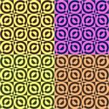 Ajuste do vetor sem emenda geométrico, fundo quadrado do teste padrão do círculo, ajustado de quatro cores ilustração royalty free