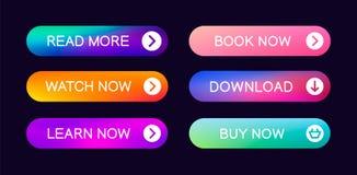 Ajuste dos bot?es abstratos modernos da Web ilustração royalty free