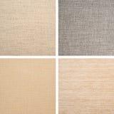 Ajuste dos fundos da textura de matéria têxtil Imagens de Stock