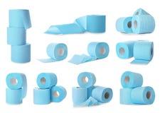 Ajuste dos rolos do papel higiênico imagens de stock royalty free