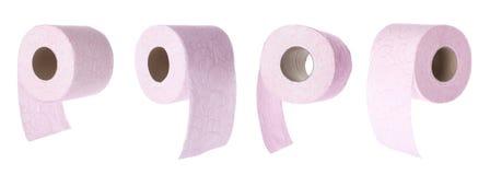 Ajuste dos rolos do papel higiênico fotografia de stock