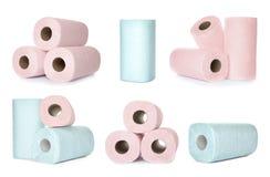 Ajuste dos rolos do papel higiênico foto de stock