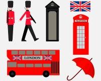 Ajuste dos símbolos dos elementos de Londres ilustração stock