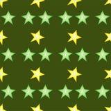 Ajuste dos slieces do calambol no fundo verde ilustração stock