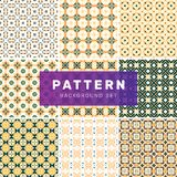Ajuste dos testes padrões abstratos geométricos ilustração royalty free
