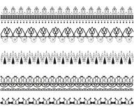 Ajuste dos testes padrões decorativos do vetor ilustração do vetor