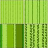 Ajuste dos testes padrões sem emenda verdes, vetor ilustração stock