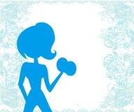 Ajuste el ejercicio de la mujer stock de ilustración