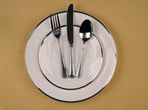 Ajuste elegante do jantar Imagens de Stock