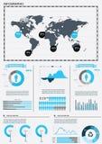 Ajuste elementos do infographics. Imagem de Stock Royalty Free