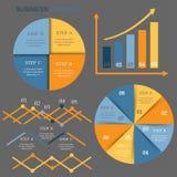Ajuste elementos do infographics ilustração royalty free