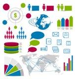 Ajuste elementos infographic do detalhe para a disposição do Web site do projeto Imagens de Stock Royalty Free