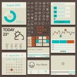 Ajuste elementos usados para a interface de utilizador Imagens de Stock Royalty Free