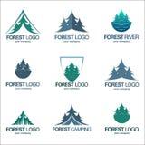 Ajuste emblemas da floresta do vetor Foto de Stock Royalty Free