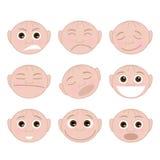 Ajuste emoções das caras Imagem de Stock Royalty Free