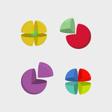 Ajuste a esfera do logotipo logotipos da bola do sumário 3d Espaço dos segmentos VE Imagem de Stock