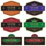 Ajuste a etiqueta do vinho Fotografia de Stock Royalty Free