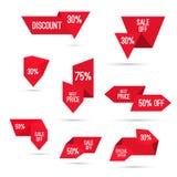 Ajuste etiquetas com fitas e etiquetas Fotografia de Stock