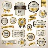 Ajuste etiquetas e fitas luxuosas ilustração royalty free