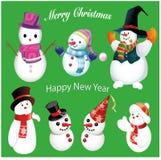 Ajuste a família do boneco de neve ilustração royalty free